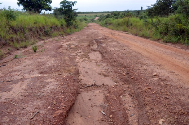 Dirt roads erode easily making it difficult to pass during the rainy season