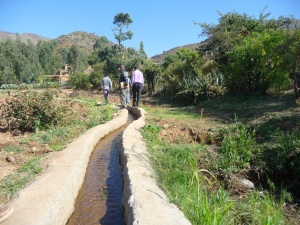A community-built irrigation site in Tigray, Ethiopia. Photo credit Kelly Ramundo, USAID