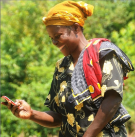 Mary Afande Lwaka, Cropnuts customer. Credit, Fintrac Inc